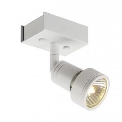 SLV Applique et plafonnier PURI 1, QPAR51, blanc mat, max. 50 W, avec anneau déco