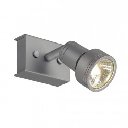 SLV Applique et plafonnier PURI 1, QPAR51, gris argent, max. 50 W, avec anneau déco