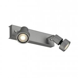 SLV Applique et plafonnier PURI 2, QPAR51, gris argent, max. 100 W, avec anneau déco