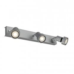 SLV Applique et plafonnier PURI 3, QPAR51, gris argent, max. 150 W, avec anneau déco