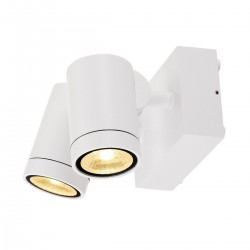 SLV Applique outdoor HELIA (2), deux lampes, LED, 3000 K, IP55, blanc, orientable, 2 x 8 W