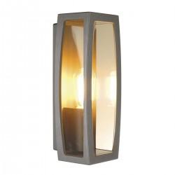 SLV Applique outdoor Meridian Box 2, TC-(D,H,T,Q)SE, anthracite, max. 25 W, plastique transparent
