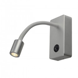 SLV Applique PIPOFLEX, LED, 3000 K, gris argent