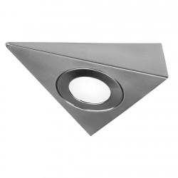 SLV Cadre de montage pour encastré DL 126, triangle, métal brossé