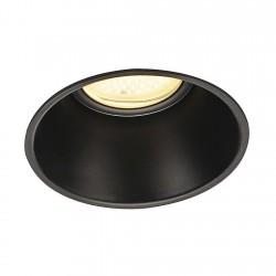 SLV Collerette pour F-LIGHT, noir, avec verre transparent