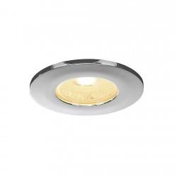 SLV Collerette pour F-LIGHT, plat, rond, chrome, avec verre transparent