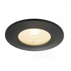 SLV Collerette pour F-LIGHT, plat, rond, noir, avec verre transparent