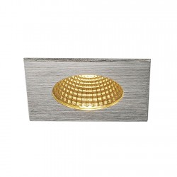 SLV Encastré de plafond PIREQ IP, carré, aluminium brossé, 38°, 3000 K, incl. Alimentation