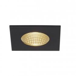 SLV Encastré de plafond PIREQ IP, carré, noir mat, 38°, 3000 K, incl. Alimentation