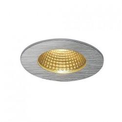 SLV Encastré de plafond PIREQ IP, rond, aluminium brossé, 38°, 3000 K, incl. Alimentation