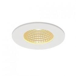 SLV Encastré de plafond PIREQ IP, rond, blanc mat, 38°, 3000 K, incl. Alimentation