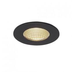 SLV Encastré de plafond PIREQ IP, rond, noir mat, 38°, 3000 K, incl. Alimentation