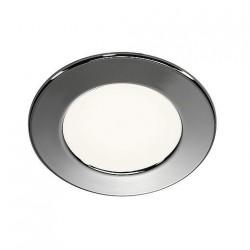 SLV Encastré DL 126, LED SMD, 3000 K, rond, chrome, max. 3 W, incl. lames ressorts