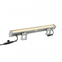 SLV Galen, LED, 3000 K, IP55, gris argent, profil, L/l/H 60/11,3/6,2 cm, 18 W