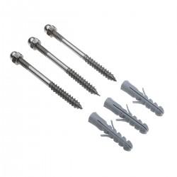 SLV Kit de fixation, inox M6 incl. écrous, chevilles et rondelles