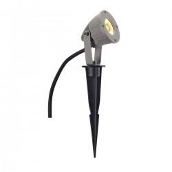 SLV Nautilus Spike KOMPAKT (5), LED, 3000 K, IP44, gris argent, 230 V, 4 W