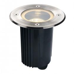 SLV Spot encastré DASAR 80, QR-CBC51, IP67, orientable, rond, inox 316, max. 35 W