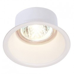 SLV Spot encastré HORN GU10, rond, blanc, max. 50 W