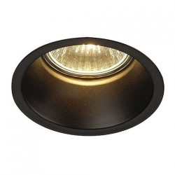 SLV Spot encastré HORN GU10, rond, noir mat, max. 50 W LTB112910