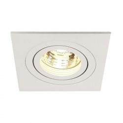SLV Spot encastré New tria 1, QPAR51, carré, blanc, max. 50 W, incl. clips ressorts