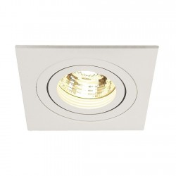 SLV Spot encastré New tria 1, QPAR51, carré, blanc, max. 50 W, incl. lames ressorts
