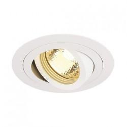 SLV Spot encastré New tria 1, QPAR51, rond, blanc, max. 50 W, incl. clips ressorts