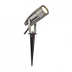 SLV Spot sur piquet d'extérieur SYNA, LED, 3000 K, IP55, gris argent, 230 V, 8,6 W