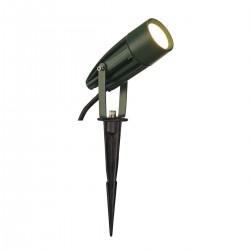 SLV Spot sur piquet d'extérieur SYNA, LED, 3000 K, IP55, vert, 230 V, 8,6 W