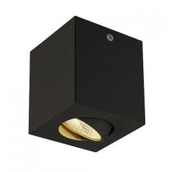 SLV Triledo Square CL, LED, 3000 K, carré, noir mat, 38°, 6,2 W, incl. Alimentation