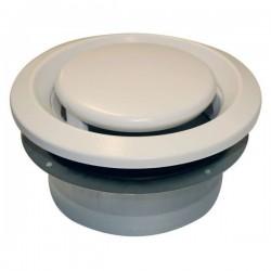 Soler & Palau Bouche d'extraction reglable bem ventilation type d 120m³/h 125mm metal blanche BEM125