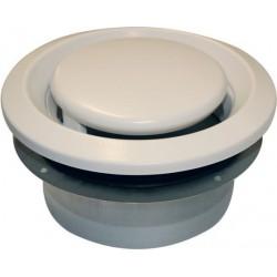 Soler & Palau Bouche d'extraction reglable bem ventilation type d 50m³/h 100mm metal blanche BEM100