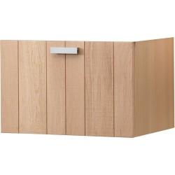 Sous meuble combo brut 1 tiroir 120cm chene DN120K4753398
