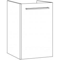 Sous meuble combo uni 1 porte droite 35 blanc brillant DA035D47R0931