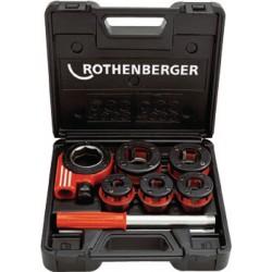 """Rothenberger Tête de filière et cage en coffret Supercut diamètre 3/8 """" à 1 1/4 """" 070790X"""