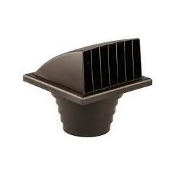 Renson Grille de hotte 741 à clapet et réduction en pvc diamètre 100-110-120-130 brun 57411007