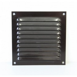 Renson Grille estampée 436 DIY 200xH200 gris brun RAL8019  (par 10 pièces) 52002007