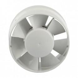 Renson Ventilateur tubulaire diametre 125 - RAL9010 blanc - 185m³/h passage d'air DIY 67122006
