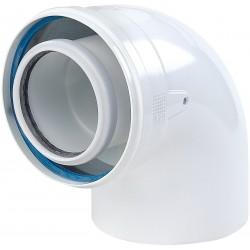 Remeha coude concentrique 90° pp 100/150. 0120095