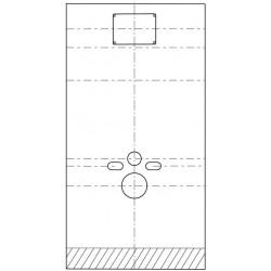 Plaque de finition sanbloc, System fix et duofix acryl paspartoe. 153882