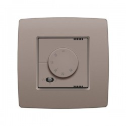 Niko Thermostat électronique avec commutateur à 3 positions, greige 104-88000