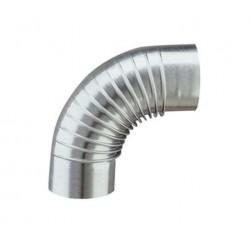 Opsinox coude galvanisé de rayon 90° et diamètre 125mm 1411109125