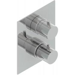 Paffoni thermostat avec inverseur a encastré steel inox.   STEELQ514AC2F