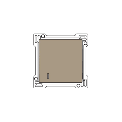 Niko Manette pour interrupteur pour carte d'hôtel 10A 250V AC, bronze 123-61901