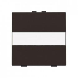 Niko Manette simple avec porte-étiquette pour poussoir câble-bus ou RF, brun 124-00006