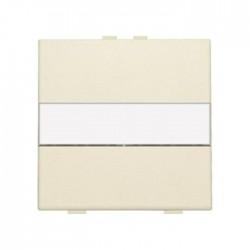 Niko Manette simple avec porte-étiquette pour poussoir câble-bus ou RF, crème 100-00006