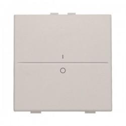 Niko Manette simple I-0 pour poussoir câble-bus ou RF émetteur mural, gris clair 102-00002