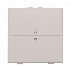 Niko Manette simple up & down pour poussoir câble-bus ou RF émetteur, gris clair 102-00004