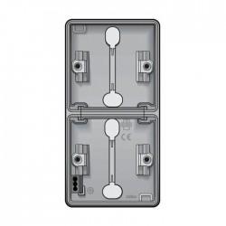 Niko New Hydro boîtier en saillie vertical pour 2 fonctions avec 2x1 entrée souple  700-83201