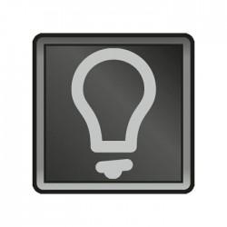 Niko New Hydro voyant transparent avec symbole lumière pour boutons-poussoirs  700-30200