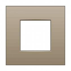 Niko Plaque de recouvrement (60mm) simple, bronze 123-76100